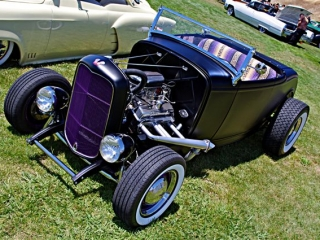 Purple w/ White Wall Tires