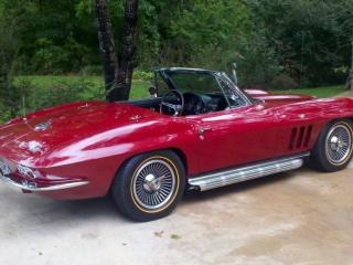 Red Corvette Goldine Tires