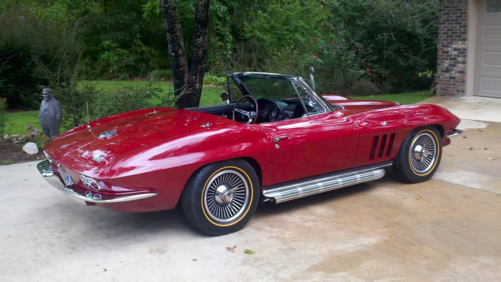 Red Corvette Goldine Tires