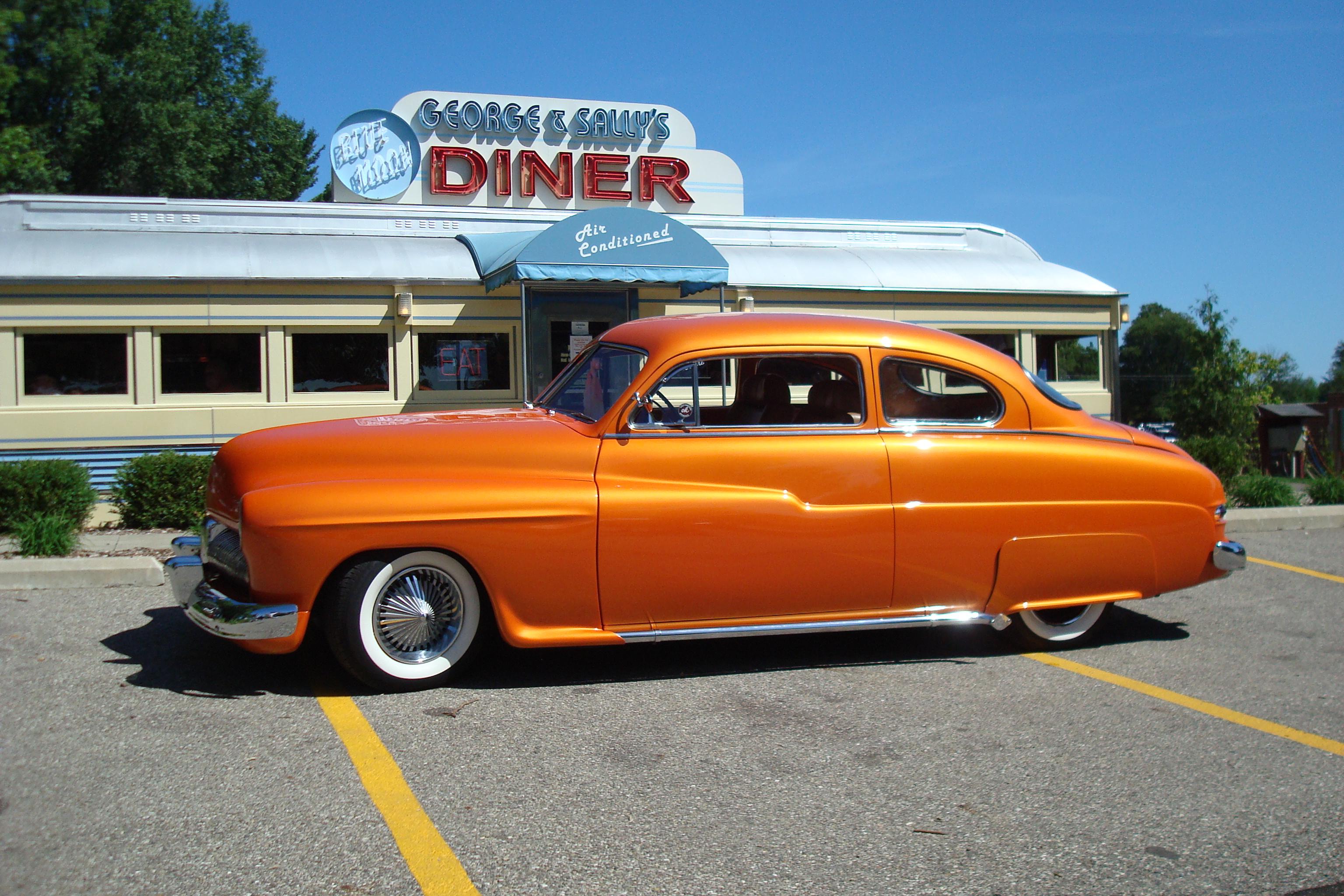 Orange White Wall Tires 4