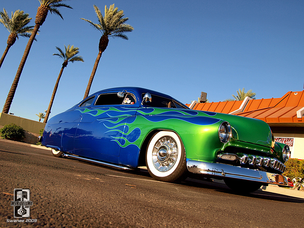 Green On Blue White Wall Tires