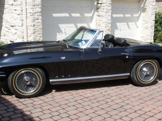 Black Corvette Goldline Tires