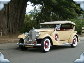 1933 Packard w/ White Wall Tires