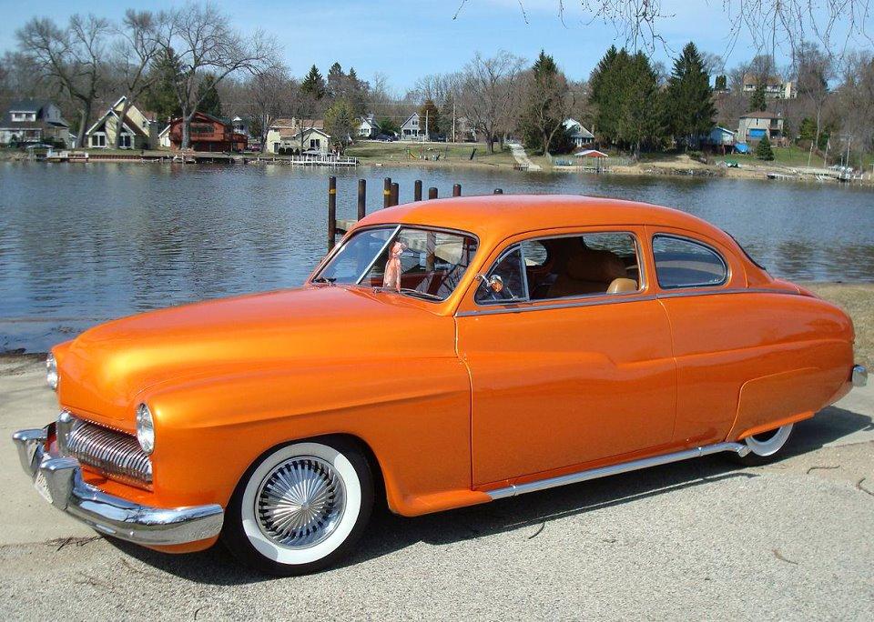 Orange White Wall Tires 6