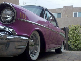 Purple White Wall Tires