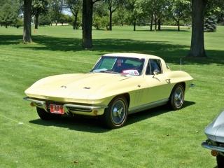 Yellow Corvette Goldline Tires
