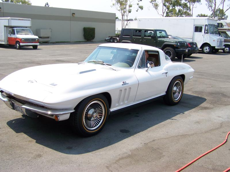 White Corvette Goldline Tires