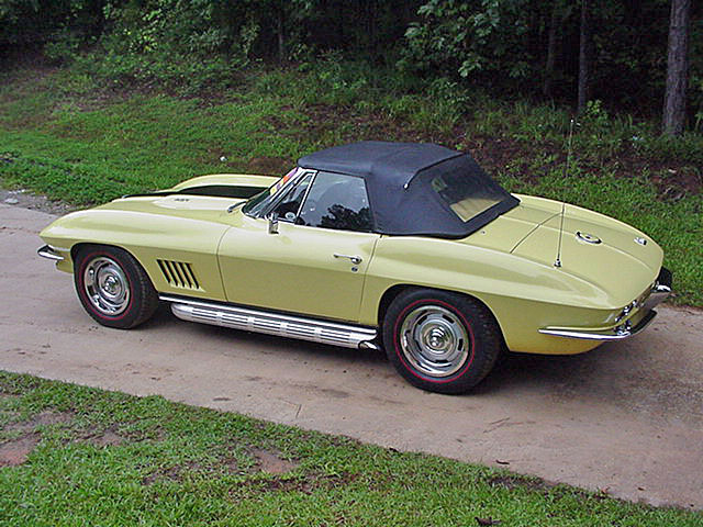 Yellow Corvette Redline Tires